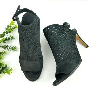 VINCE Aden Perforated Peep Toe Booties  S23